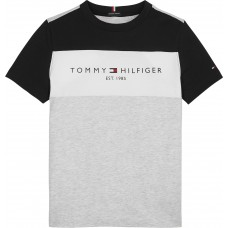 Tommy Hilfiger Boys Short Sleeve T-Shirt - Grey