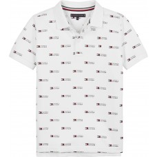 Tommy Hilfiger Boys Short Sleeve Polo - White